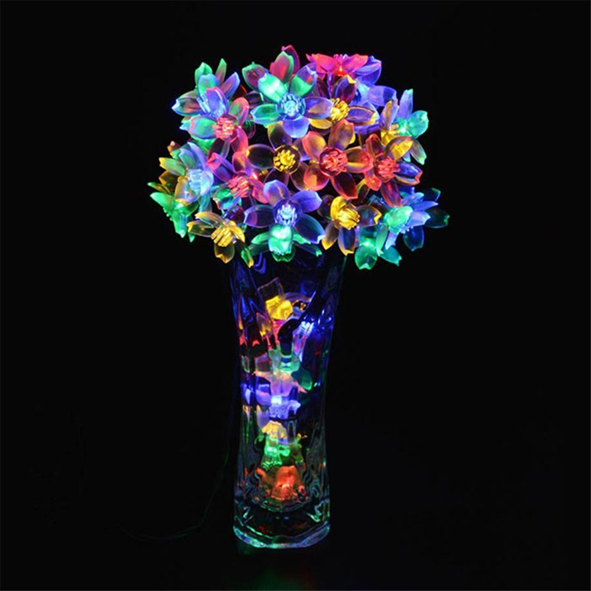 Solar Blossom Flower Fairy String Light 23FT 50LED Home Garden Wedding Decor