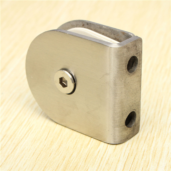 Stainless Steel Shelf Support Wall Partition Glass Bracket Clamps