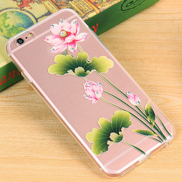 Women's Ultra Thin Soft TPU Crystal Shockproof Case For iPhone 6 Plus & 6s Plus