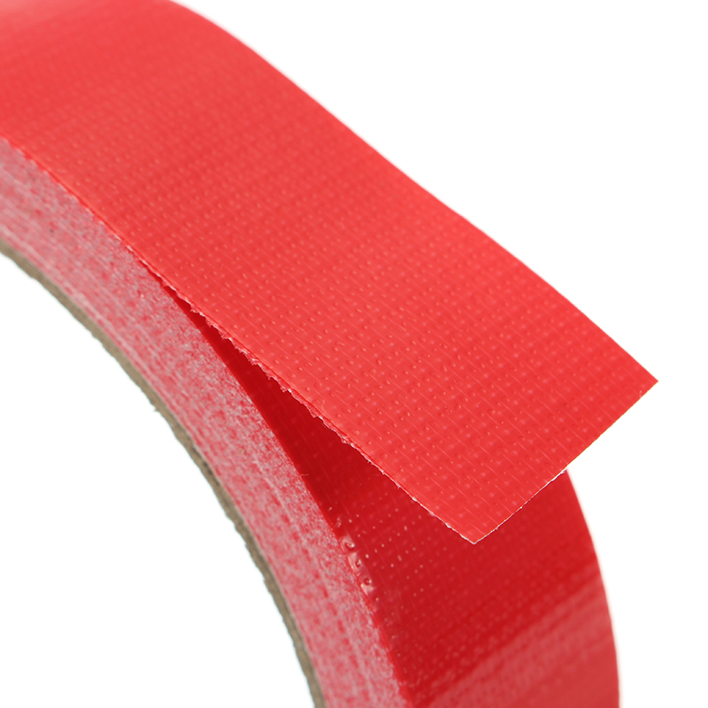 Red Cloth Duct Tape PE Coated Waterproof Strong Adhesive Carpet Tape 2 Sizes