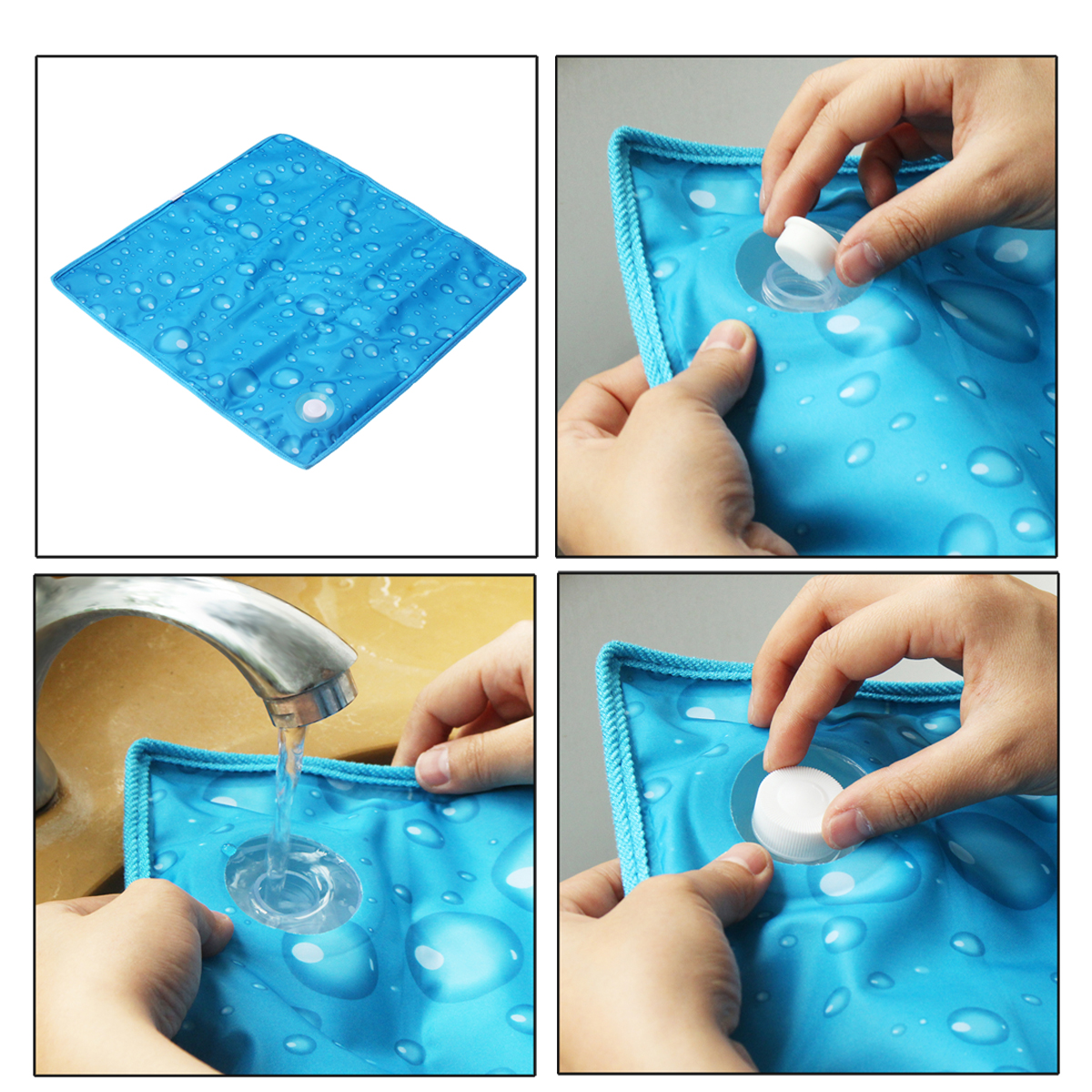 40X40cm Summer Ice Crystal Cooling Water Seat Cushion Chair Seat Cover Sofa Mat Pad