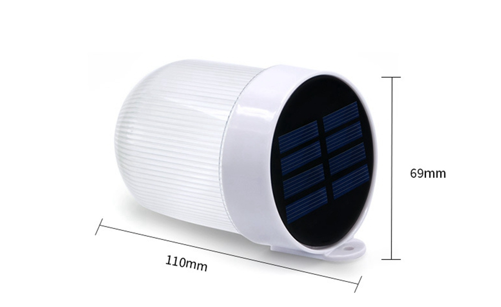 LUSTREON Solar 3 LED Wall Lamp Outdoor Waterproof Fence Garden Path Light Double Color Temperature
