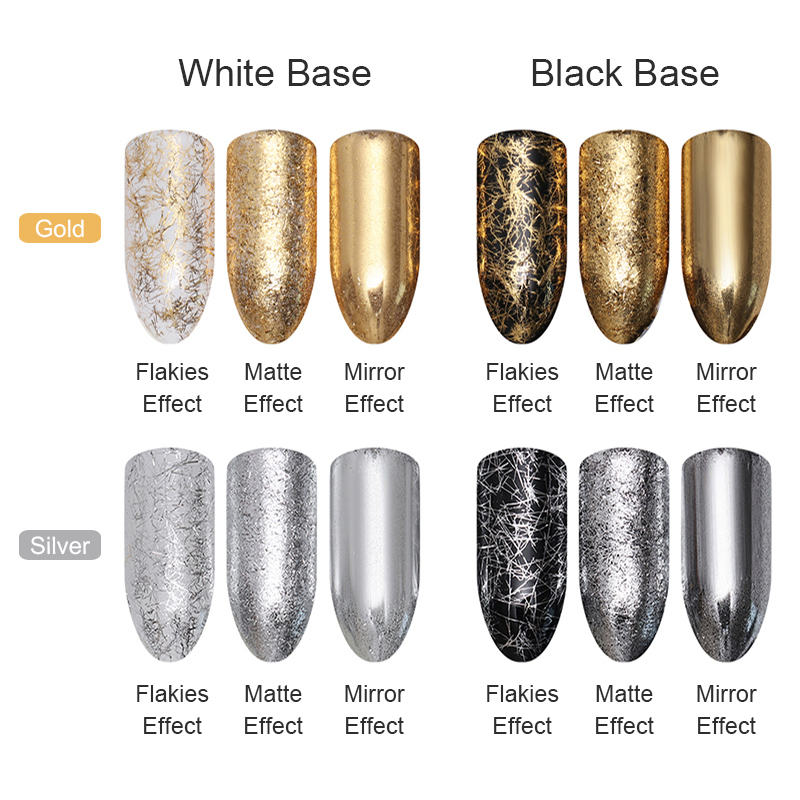 Silver Gold Thread Shimmer Glitter Nail Art DIY Decoration