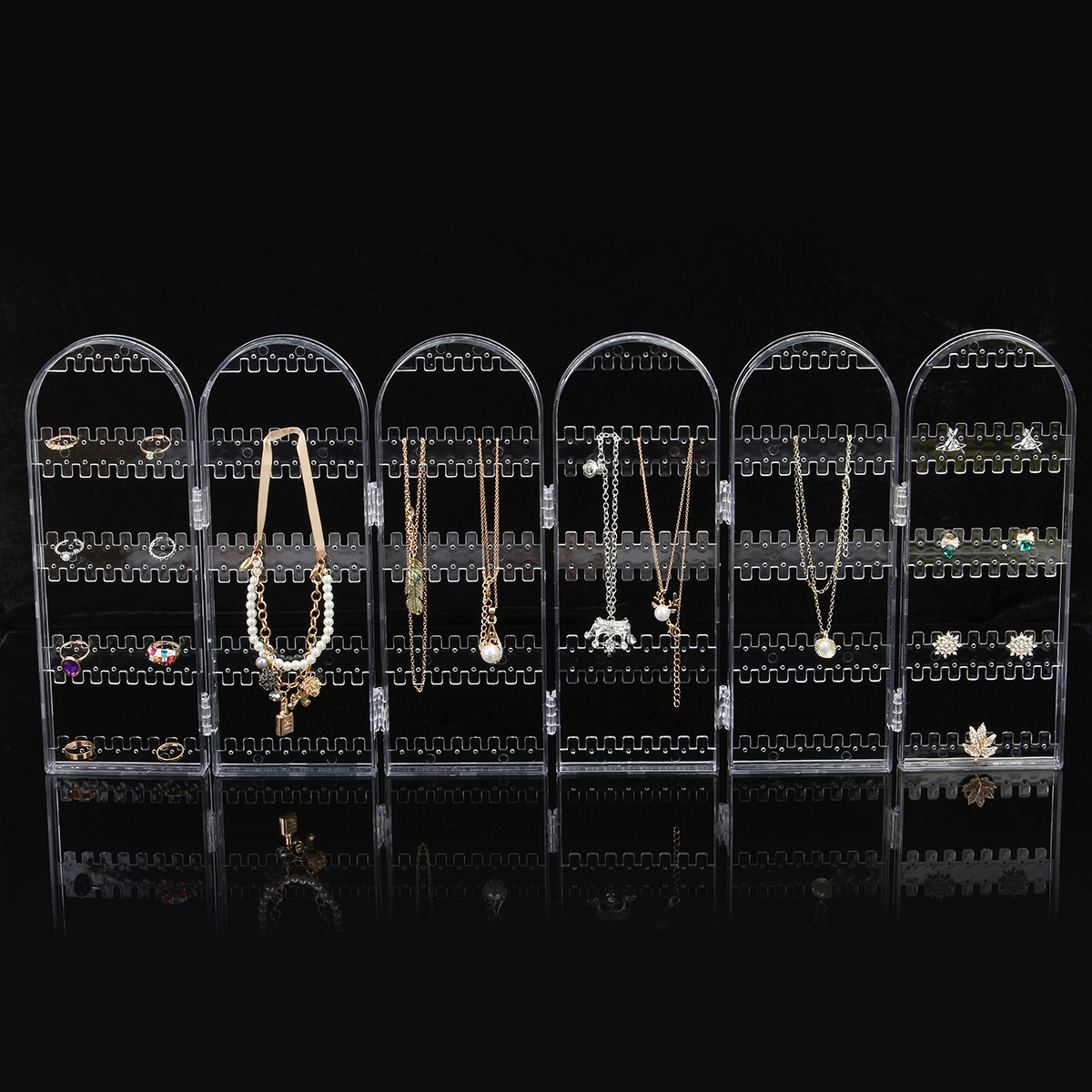 360 Holes Clear Display Rack Stand Organizer Holder for Earrings Studs Necklace Jewelry