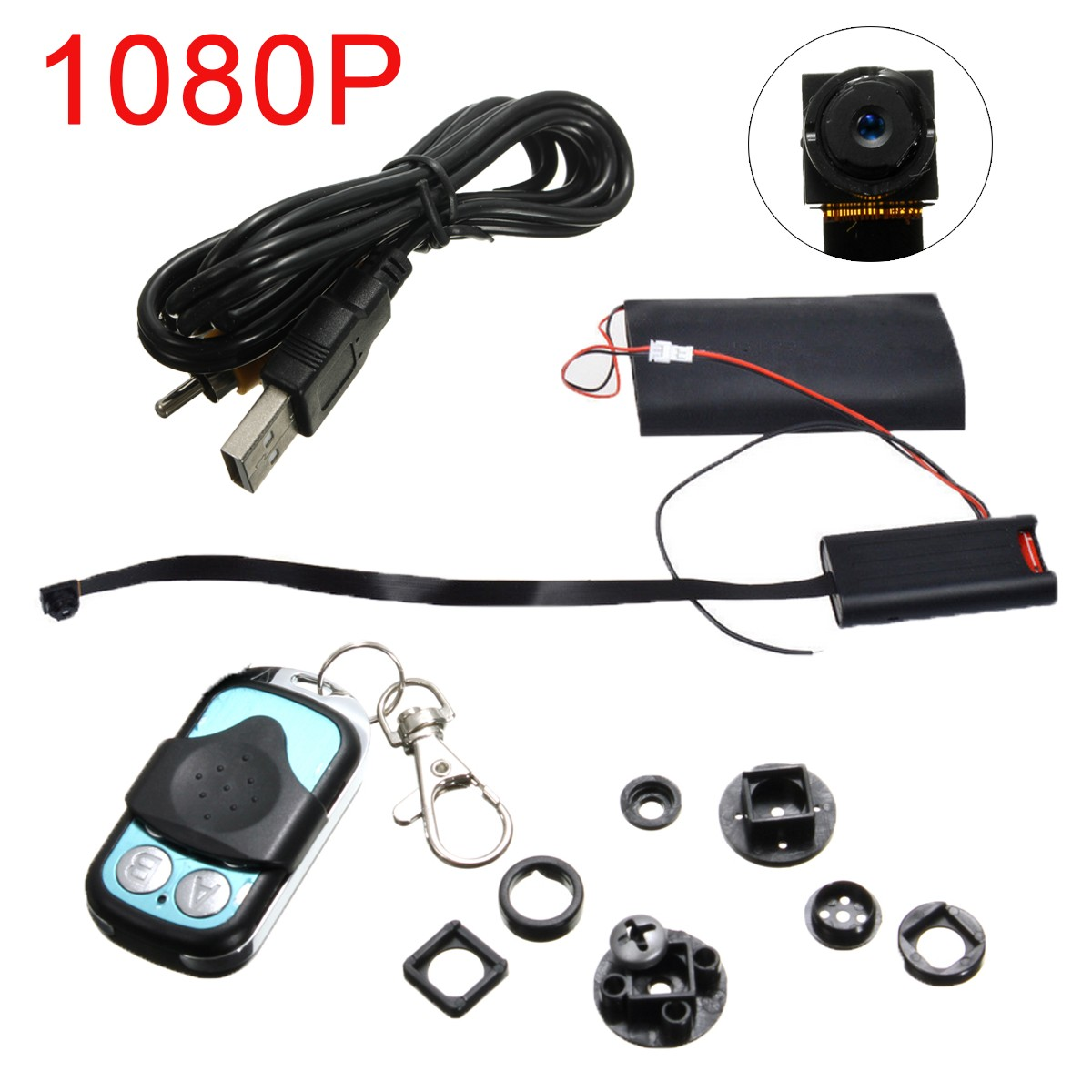 HD 1080P Mini DV DVR Camera DIY Module Hidden Video Recorder Remote Control