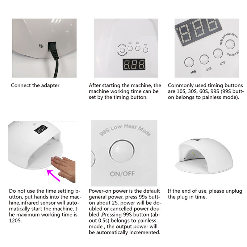 48W Professional UV LED Nail Dryer Machine
