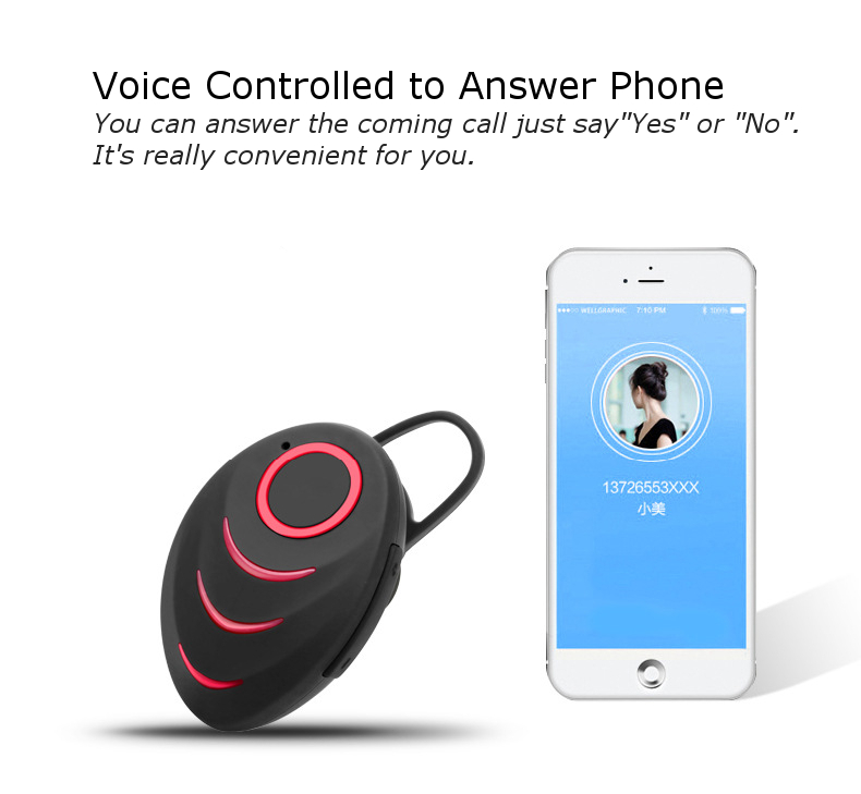 Mini Unilateral Bluetooth Stereo Headset Wireless Earbud Earphone For iPhone Samsung Xiaomi