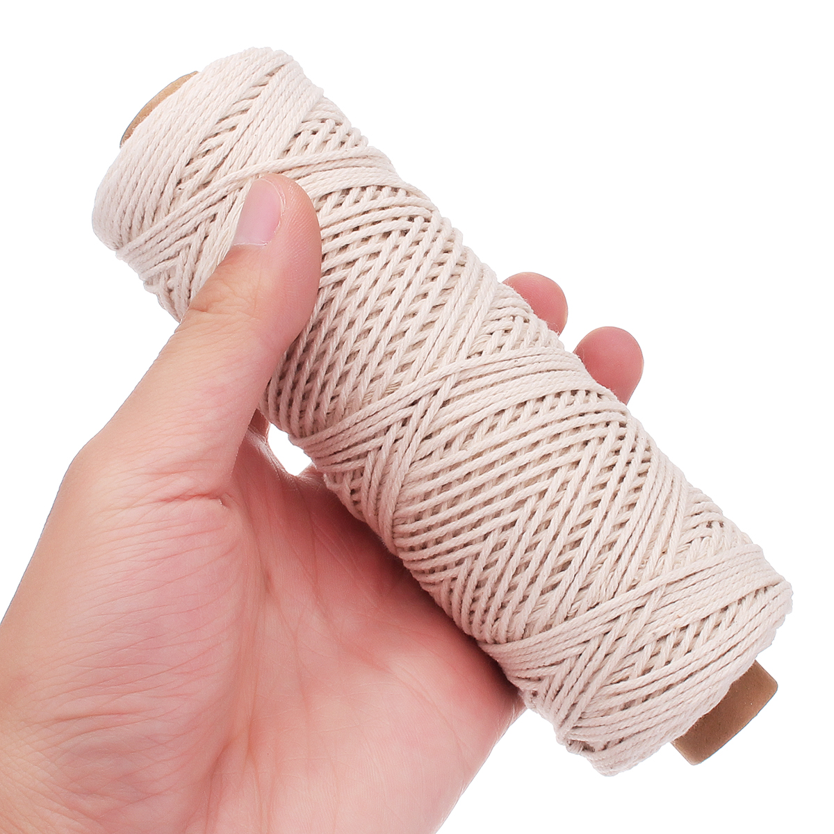 100M 1/2/3mm Natural Cotton String Twisted Cord Craft Rope Multifunctional Tools