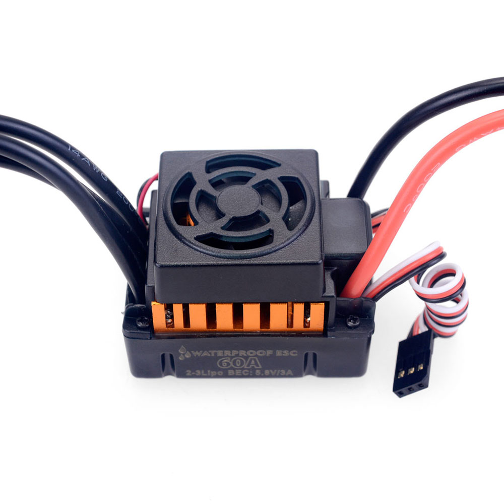 Surpass Hobby F540 Brushless Motor 60A ESC LED Program Card Combo for 1/10 RC Crawler Car Vehicles Model Spare Parts