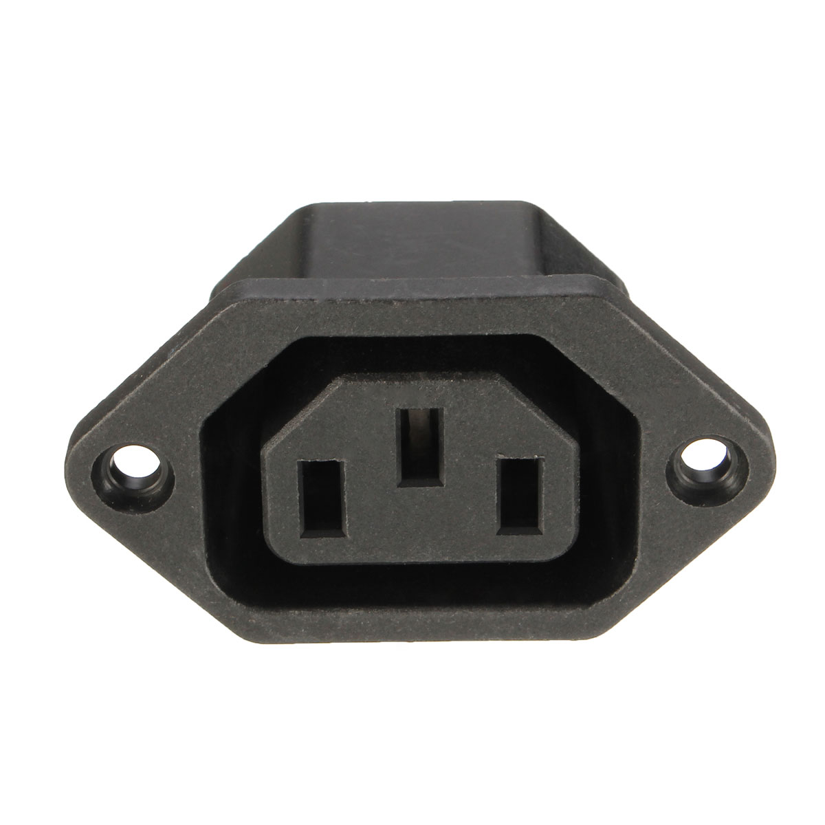 10pcs Chassis Female 15A/250V AC IEC Inline Socket Plug Adapter Mains Power Connector