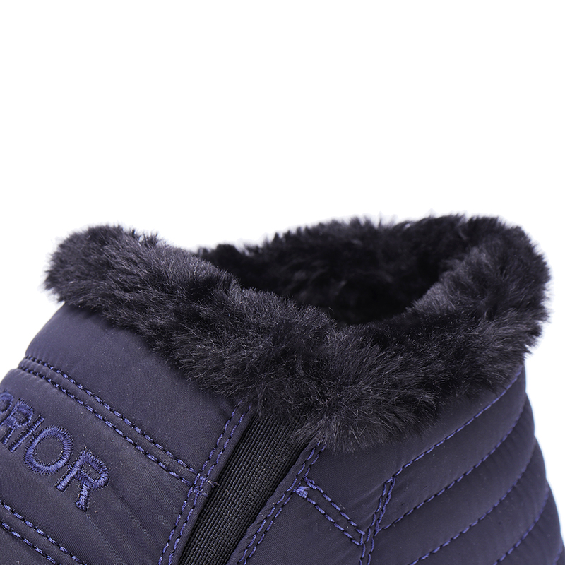 Warm Cotton Lining Slip On Round Toe Ankle Snow Boots