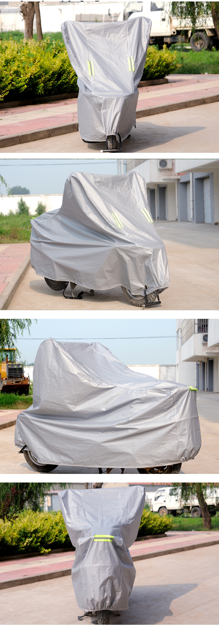 Motorcycle Scooter Bike Rain Covers Waterproof Sunproof Protective Thicken Breathable S-L