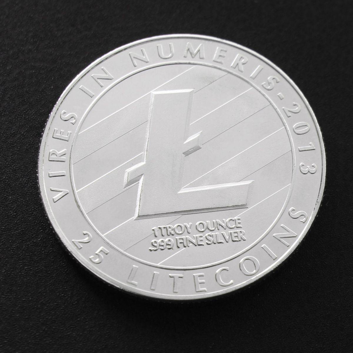 1pcs Silver Copper Plated Commemorative Litecoin Model Collectible Golden Iron Miner Coin Gift
