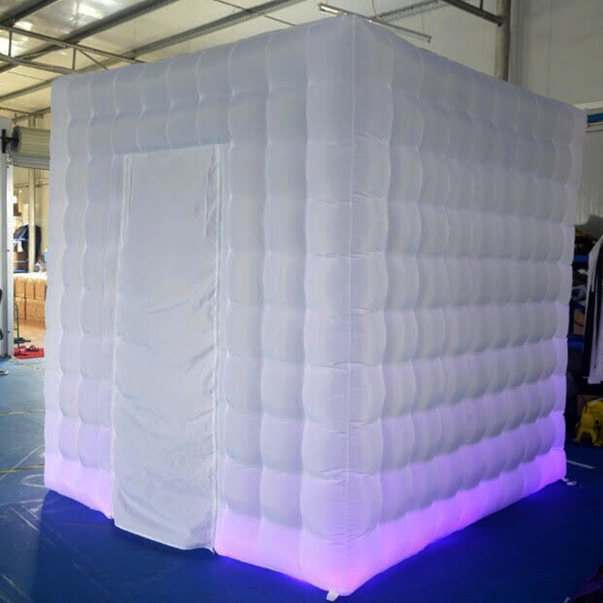 2.5m 1 Door 8 LED Color Bulb Strip Inflatable Photography Booth Enclosure Cube Shooting Tent