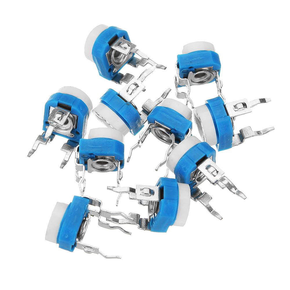 130Pcs Trimming Potentiometer Adjustment 100ohm-1Mohm RM065 Variable Resistors Assortment Kit 13Type*10Pcs