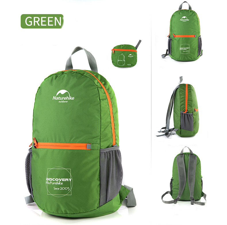 Naturehike NH15A001-B 15L Ultralight Folding Backpack Waterproof Camping Travel Storage Bag Pouch
