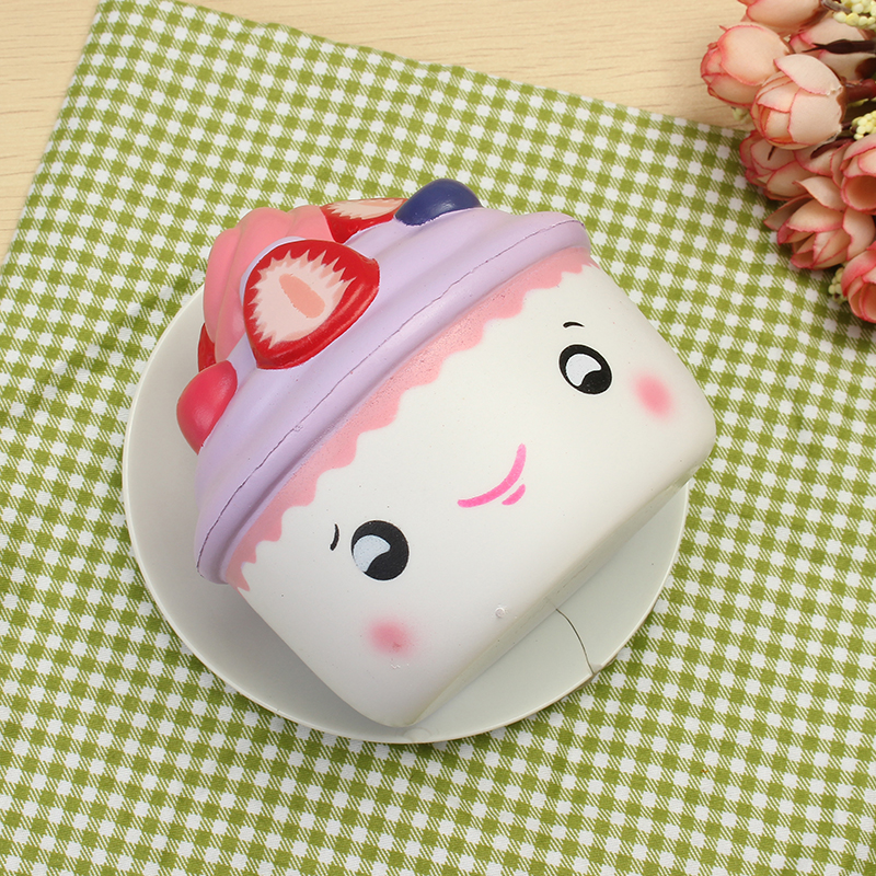 2PCS LeiLei Squishy Emoji Ice Cream Strawberry Fruit Cup Cake Slow Rising Original Packaging Gift