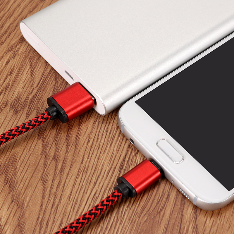 2A Nylon Braided Type-C USB Fast Charging Data Cable 0.3m For Samsung S8 Letv Xiaomi 6 mi5 mi6