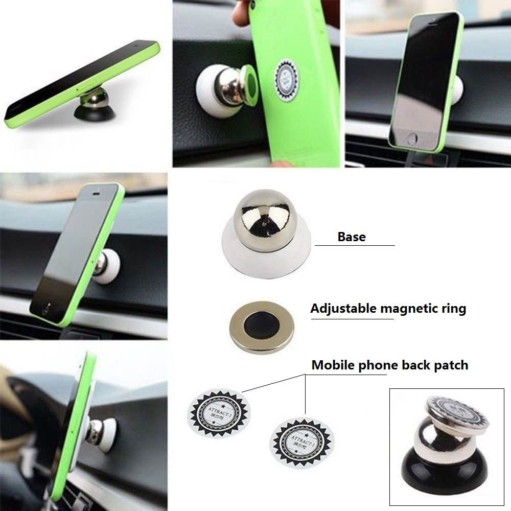 Universal 360 Degree Rotation Magnetic Car Holder Sticky Phone Mount for Iphone Xiaomi