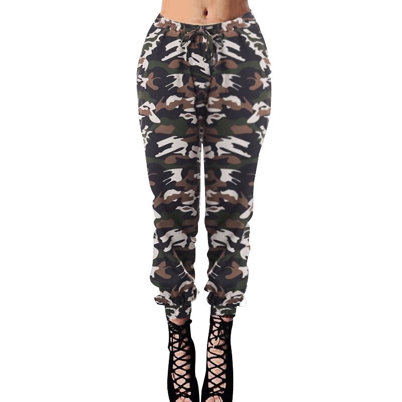 Casual Women Skinny Camouflage Pants