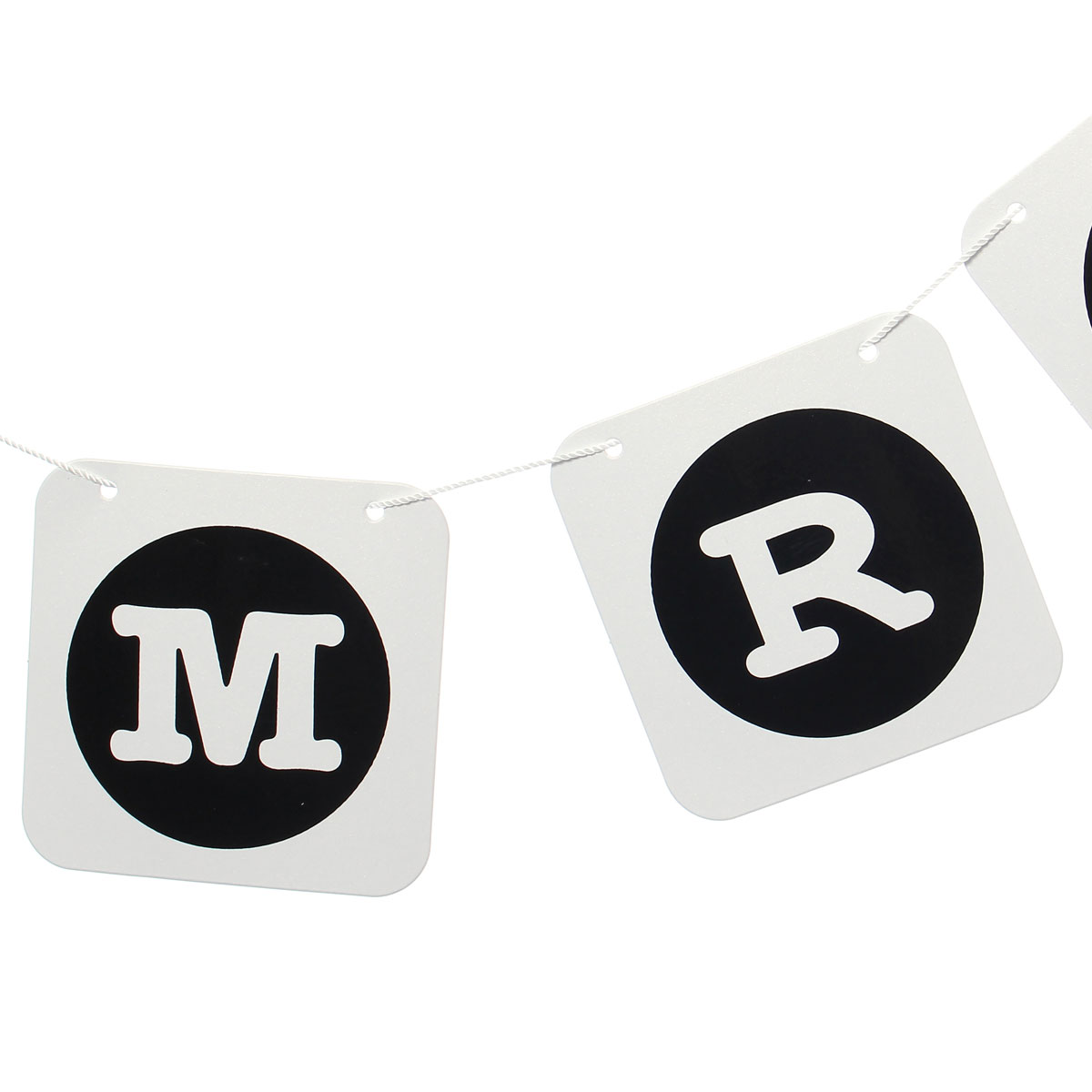 MR MRS Heart Hanging Paper Garland Chain Wedding Party Bunting Banner Decoration