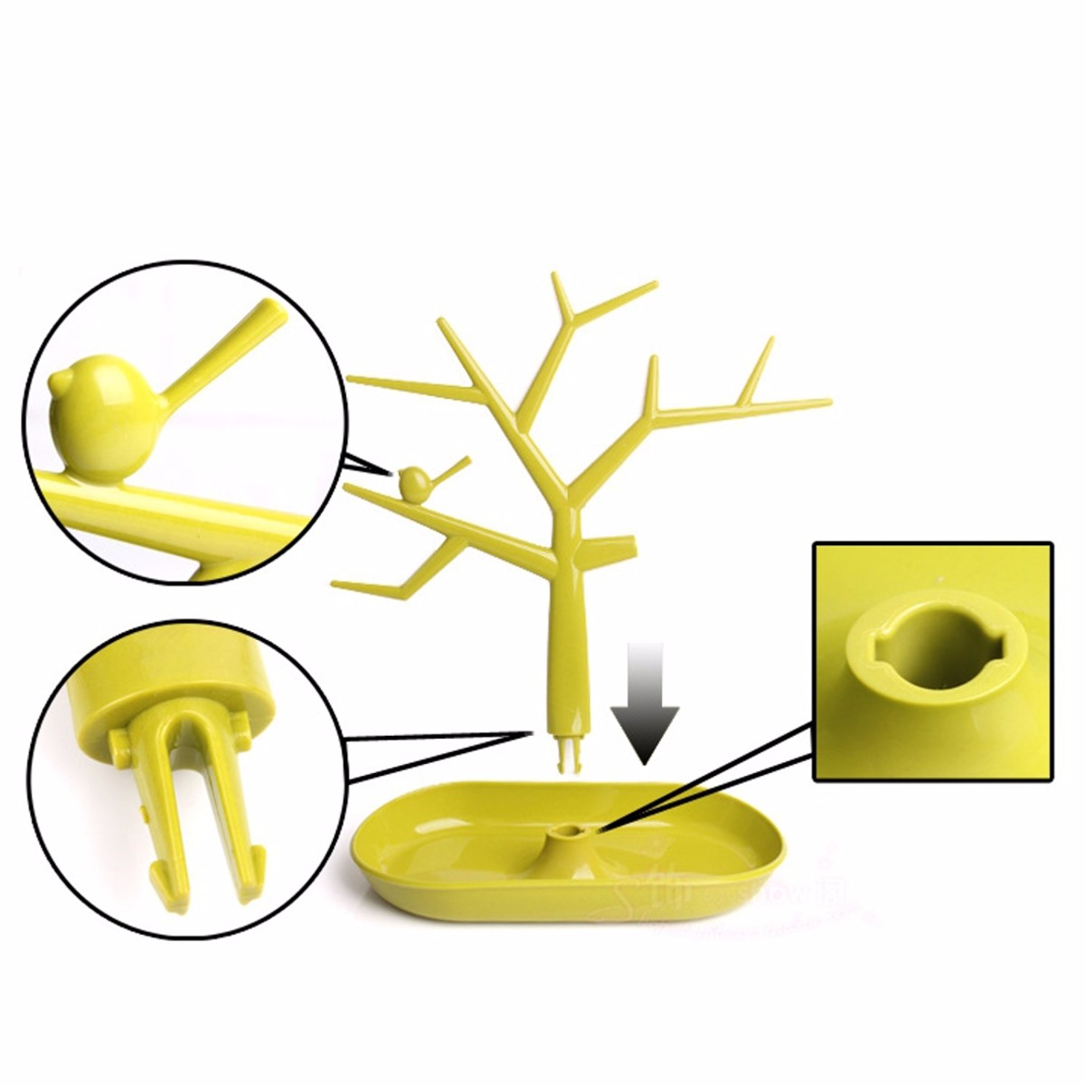Tree Shape Necklace Bracelet Ring Jewelry Display Stand Show Rack