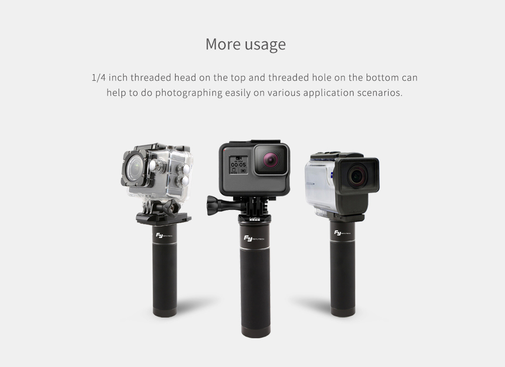 FeiyuTech Handle 1/4 Inch Screw Hole handheld Gimbal With Power Bank for Camera Phone Gopro - Photo: 6
