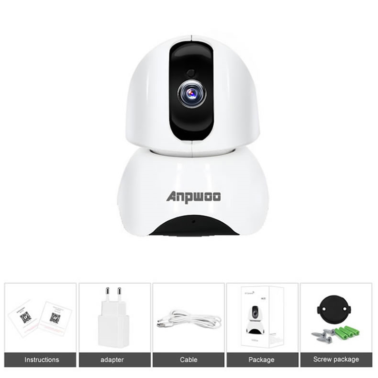 Anpwoo YT003 1080P IP WiFi Camera IR Alarm Motion Detection Support 128G Card Security CCTV Camera