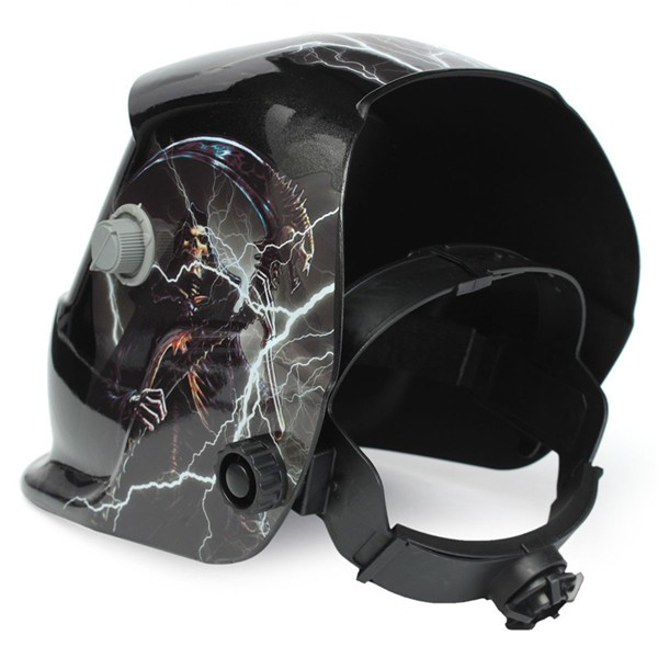 Skull God With Lightning Solar Auto Darkening Welder Mask Helmet Electrowelding Welding TIG MIG Welder Mask
