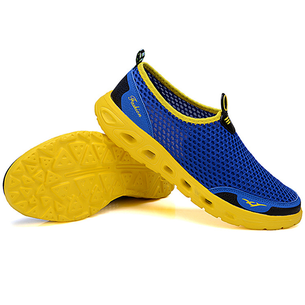 Men Hollow Out Casual Sport Shoes In Mesh