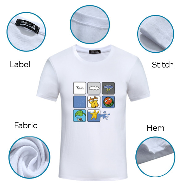 Summer Mens Fashion Cartoon Printing Top Tees Plus Size Casual Short Sleeve T-shirt