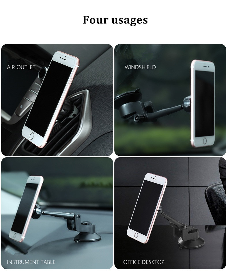 Bakeey™ 2 in 1 Magnetic Phone Holder Car Air Vent Holder Suction Bracket for iPhone 7P 7 Samsung