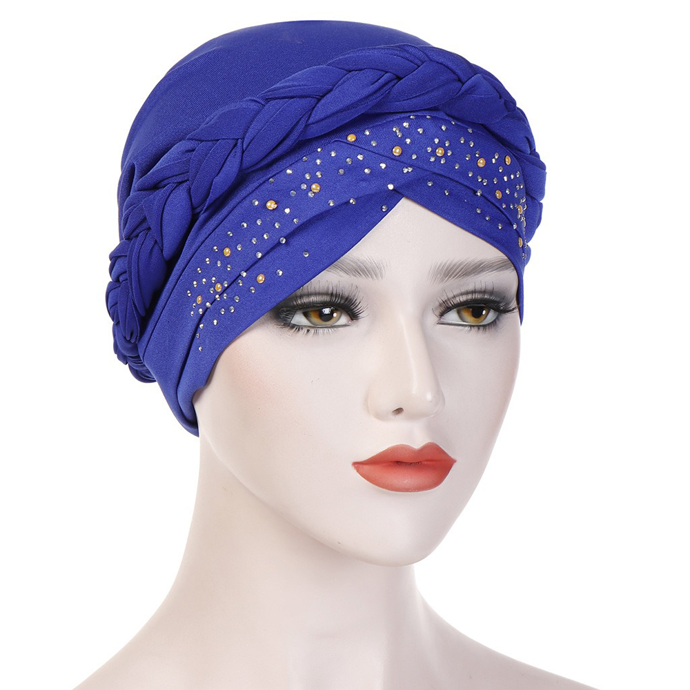 Breathable Side Flower Headband Cap Turban Cap