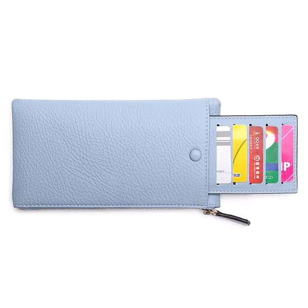 5 Detachable Zipper Card Holder Long Wallets Coin Bags 5.5'' Phone Bags For Iphone 6 Plus