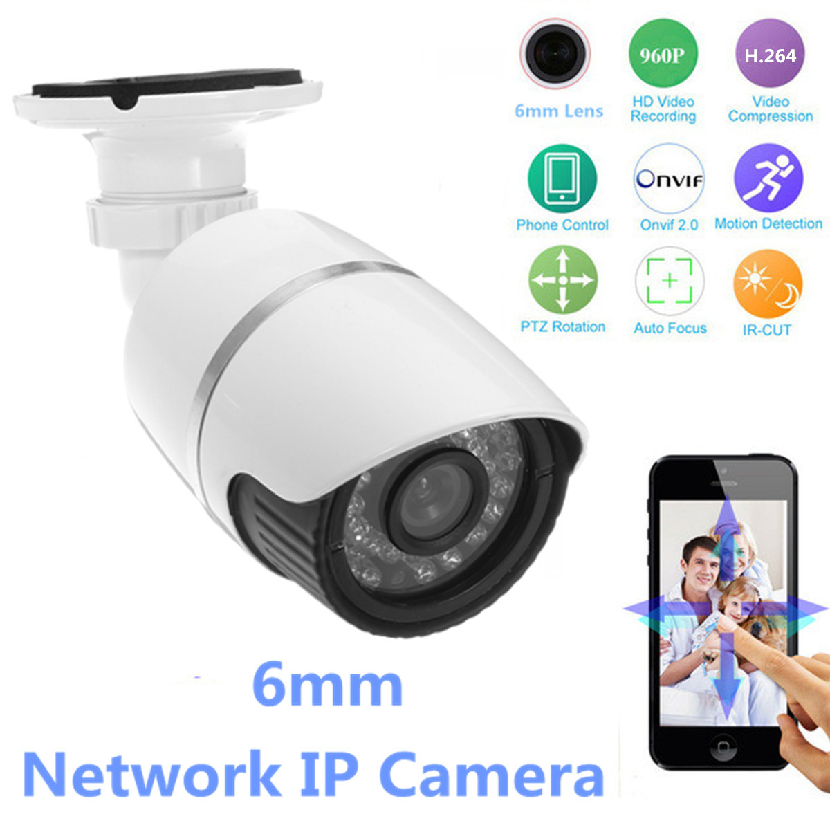 960P Wireless WiFi Network Security CCTV IP Camera Night Vision Video Webcam