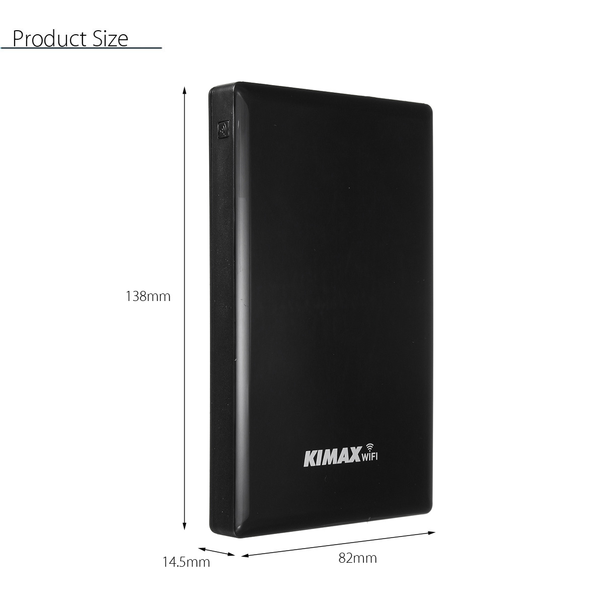 KIMAX 2.5'' USB3.0 WIFI SATA HDD Case Hard Drive Enclosure NAS Storage Expansion