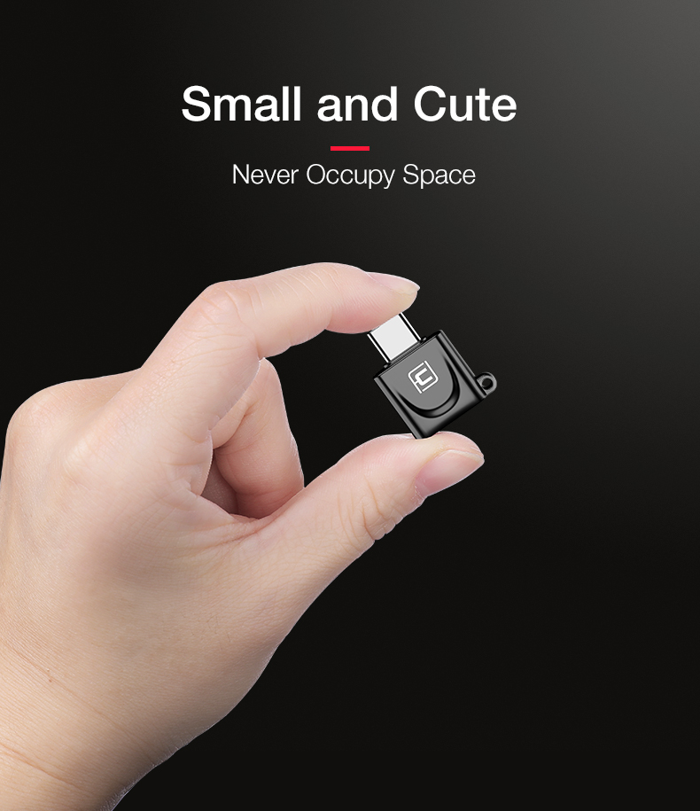 Cafele Metal Mini Type-c 3.0 to Micro USB Adapter Converter OTG for Xiaomi Mobile Phone Tablet PC