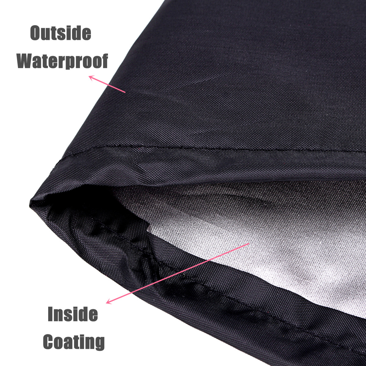 Patio Round Fire Pit Cover Waterproof Grill BBQ Cooking Protector Black