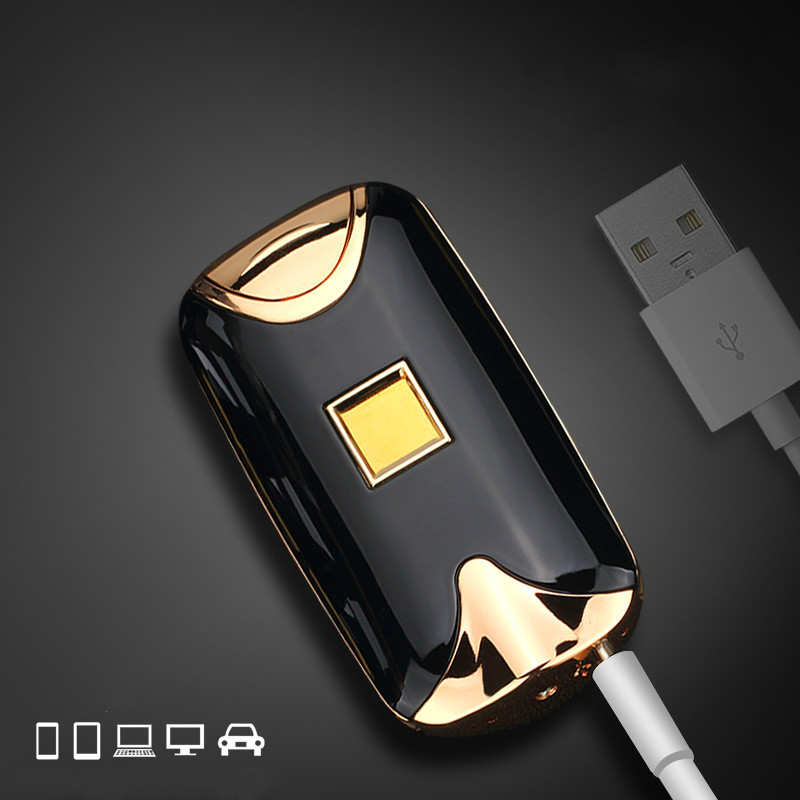 Intelligent Dual Arc Electric Lighter Fingerprint Induction USB Rechargeable WindProof Flameless