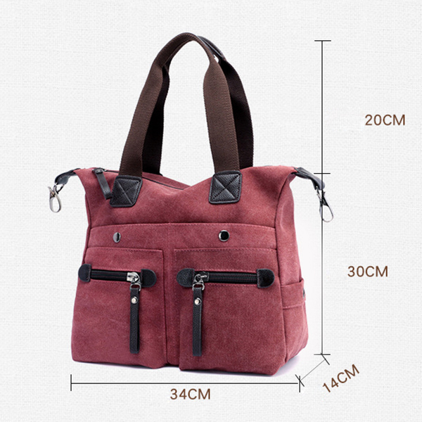 Women Canvas Casual Tote Handbags