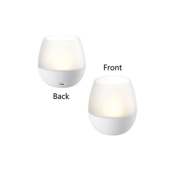 Portable USB Rechargeable Dimmable LED Flameless Candle Night Light Blow Sensor Control Tea Lamp