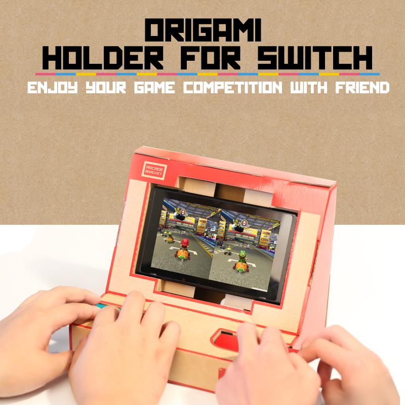 Origami DIY Stand Holder for Nintendo Switch Video Game Console