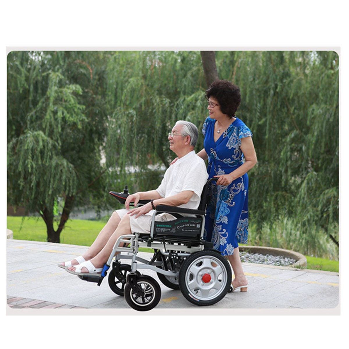 Portable Folding Power Electric Wheelchairs Elderly Disabled
