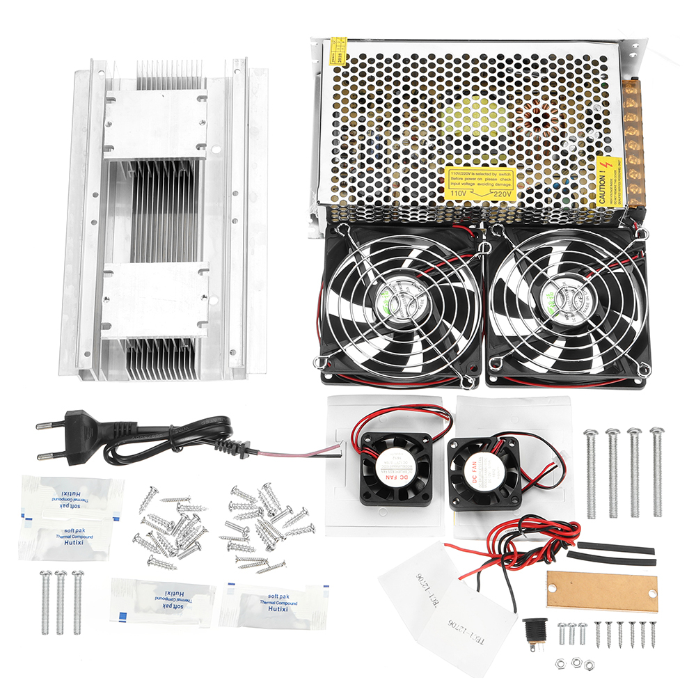 TEC1-12706 DIY Cooling System Dual Core Radiator Semiconductor Cold Production Kit Cooling Equipment