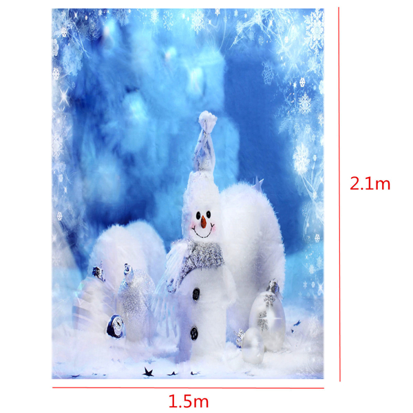 7x5ft 2.1x1.5m Fantasy Snowman Christmas Theme Photography Studio Prop Background Backdrop