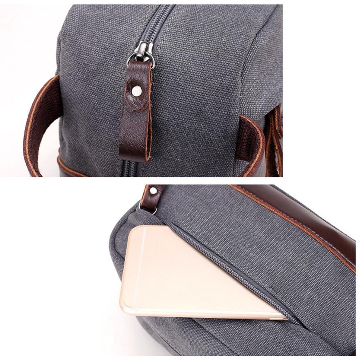 Men Travel Clutch Handbag Portable Carrying Phone Pouch Casual Canvas Wrist Bag