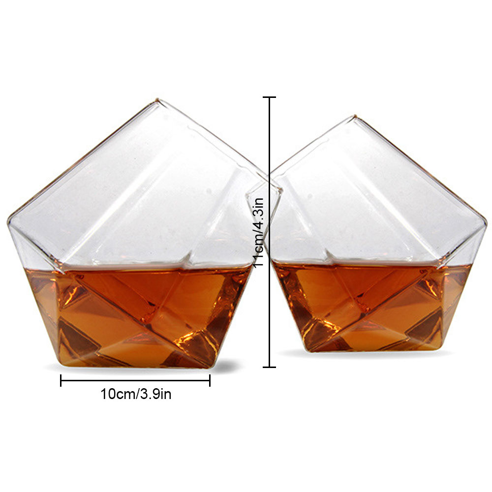 Honana HC-714 Tumbler Crystal Transparent Glass Whisky Cup Creative Home Hotel Bar Party Wine Mug Beer Glass Cup