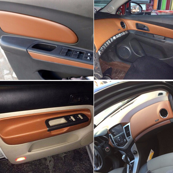 150*50cm Car Leather Textured Vinyl Wrap Sticker Decal Sheet Film