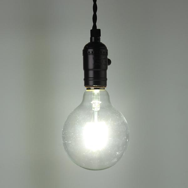 E27 G95 8W Warm White Pure White Filament Incandescent Light Bulb AC85-265V