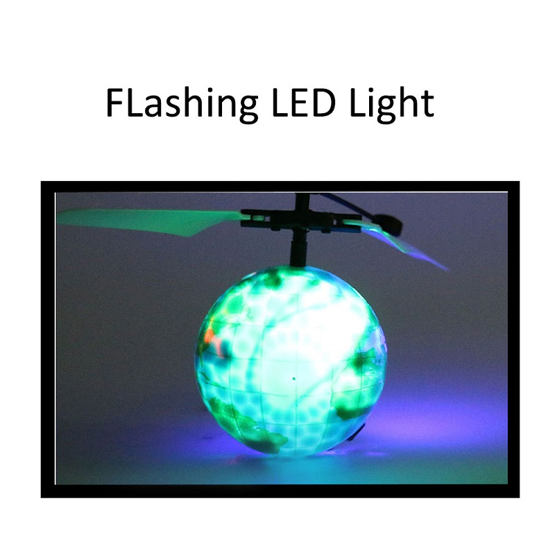 Electric Hand Spinner Infrared Induction RC Helicopter Flying Ball Shinning LED Earth Toys for Kids